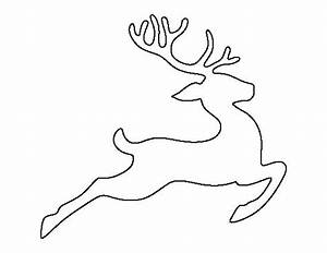 flying reindeer pattern use the printable outline for With reindeer cut out template