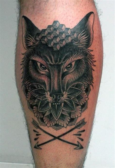 wolf arrows calf tattoos tattoo tattoo tattoo