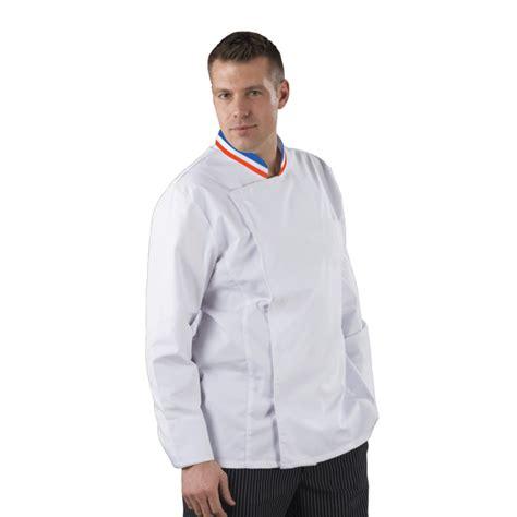 veste de cuisine mof veste cuisine col bleu blanc style mof manches