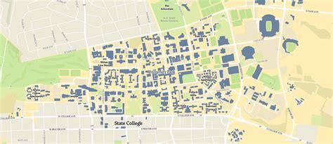 penn state map penn state university psu