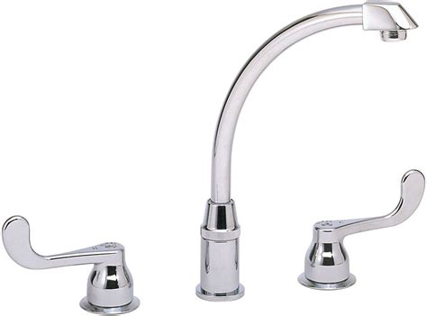 Elkay Lklfd2439 Double Lever Cast Spout Kitchen Faucet