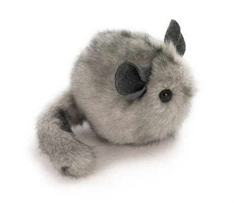 chinchilla toys light grey chinchilla stuffed animal plush toy 4x5 inches