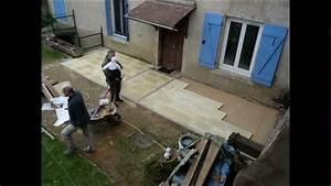 Terrasse Sur Sable : construire une terrasse mode d 39 emploi youtube ~ Melissatoandfro.com Idées de Décoration