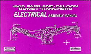 1968 Interior Assembly Manual Fairlane Falcon Ranchero