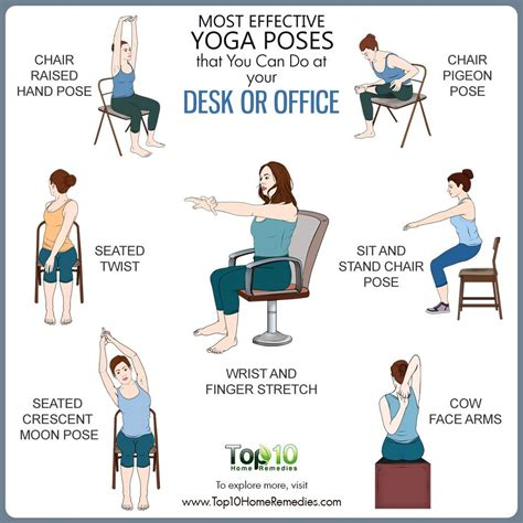 Most Effective Yoga Poses That You Can Do At Your Desk Or