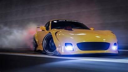 Rx7 4k Mazda Cars Drift Drifting Yellow