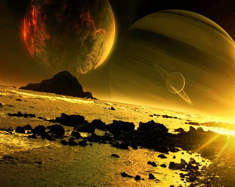 Magnificent Golden Space Hd Wallpaper  Hd Latest Wallpapers