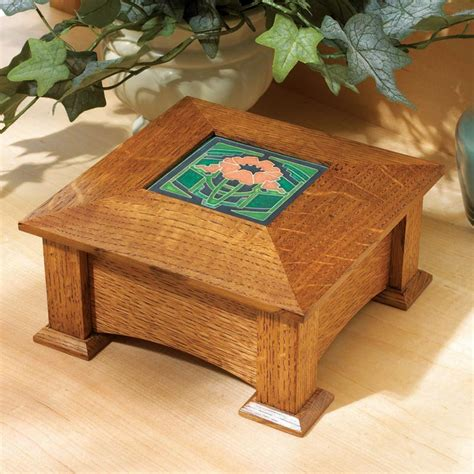 tile topped keepsake box woodworking plan  wood magazine