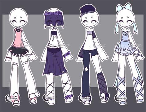 Gacha Outfits By Lunadopt On Deviantart