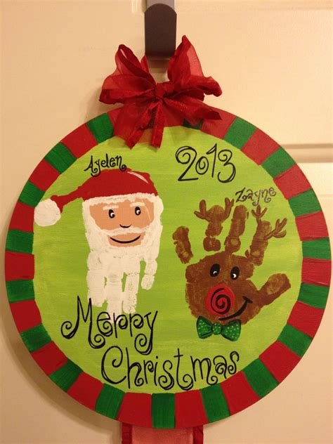 Christmas Hand Print Craft  Christmas  Christmas Crafts