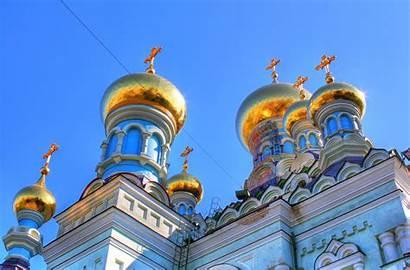 Churches Kiev Domes Gold Golden Thousand Monastery