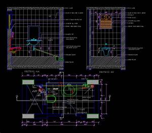 Toilet Detail DWG Section for AutoCAD • DesignsCAD