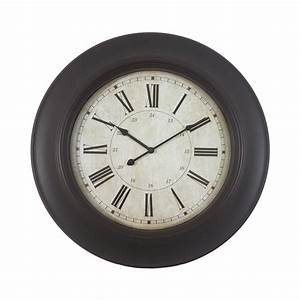 shop decor therapy roman analog round indoor wall clock at With kitchen cabinets lowes with clocks wall art