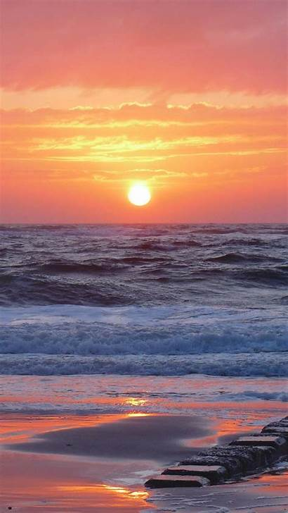 Sunset Sea Iphone Landscape Beautifully Wallpapers Parallax