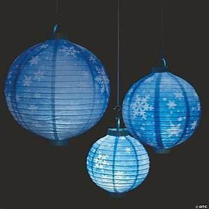 snowflake light up hanging paper lanterns