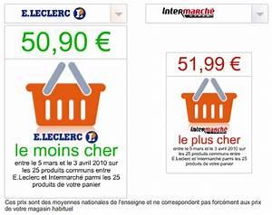 Le Prix Le Moins Cher : intermarch moins cher que leclerc cyrille chaudoit ~ Medecine-chirurgie-esthetiques.com Avis de Voitures