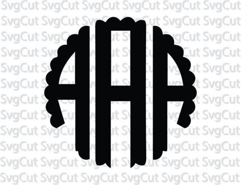 scalloped circle monogram font svg circle font scalloped