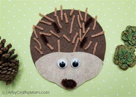 hedgehog craft  printable template artsy