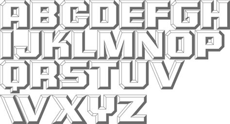 Embossed Typefaces
