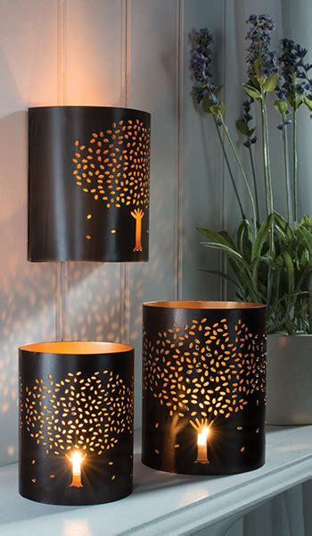 iron wall tealight holder with tree design gt tea light