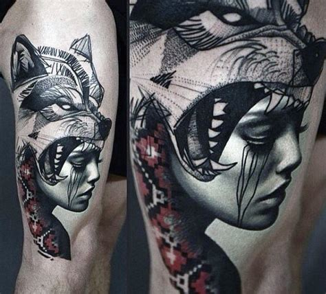 wolf tattoo designs  men masculine idea inspiration