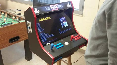raspberry pi arcade cabinet kit bartop arcade with coin acceptor and trackball on a