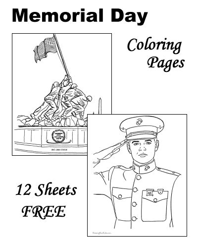 memorial day patriotic coloring pages for