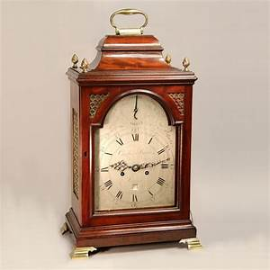 Mahogany, Verge, Bracket, Clock, With, Silvered, Dial, For, Sale, Circa, 1775