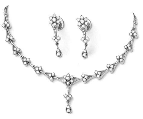Diamond Necklace Set Design 3.22ct White Gold Wedding Set