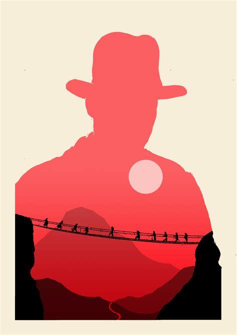 indiana jones silhouette olly moss posters inspired poster movie dum dieselfutures henry prej