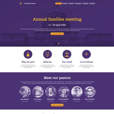 Free Responsive Website Templates St S Church Free Responsive Website Template