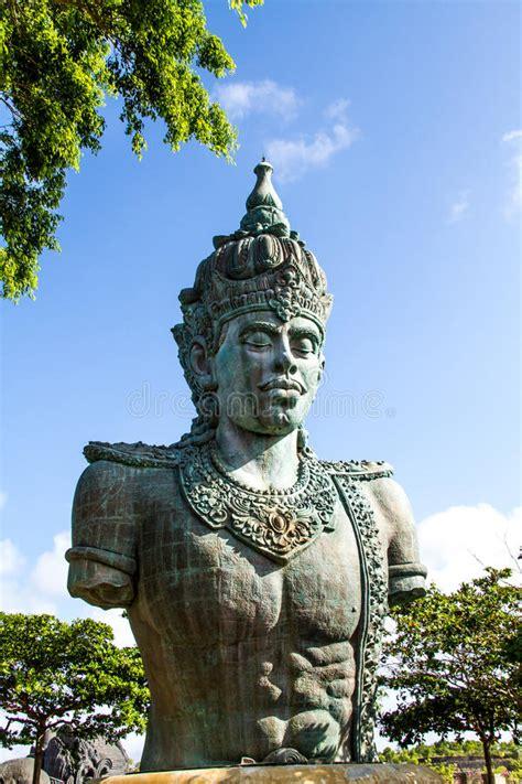 wisnu statue  gwk cultural park bali indonesia stock