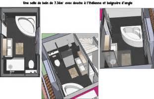 Salle De Bain Baignoire D Angle Et Italienne by Une Salle De Bain De 7m 178 Avec Douche 224 L Italienne Et