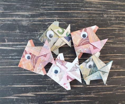 geldscheine falten koffer fisch falten aus geldschein einfache anleitung geschenke de