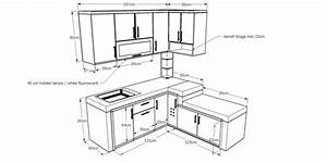 Ukuran Kitchen Set Standar Minimalis Jasa Bikin