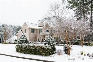 Nice Brick House After Heavy Snow Stock Image - Image ...