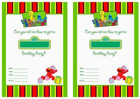 sesame invitations template free printable sesame 1st birthday invitations templates bagvania free printable