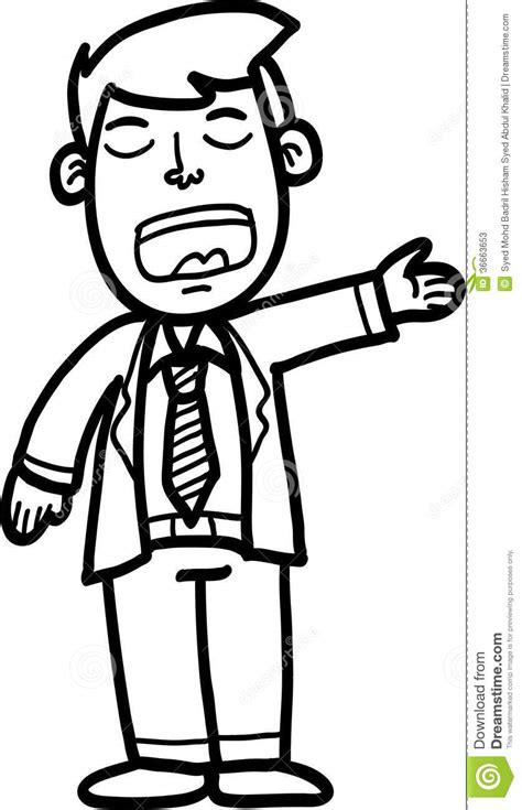 cartoon man stock  image