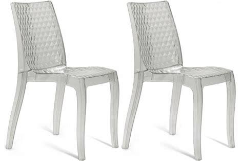 chaises transparentes pas cher lot de 2 chaises transparentes delphes chaise design pas