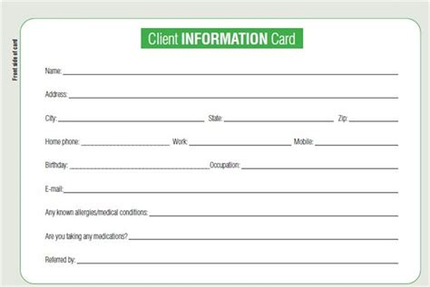 keeping tabs  clients   client cards business