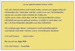 Berliner Testament Beispiel : produktinhalt einfaches und eigenhndiges testament berliner testament vorlage fr ~ Orissabook.com Haus und Dekorationen