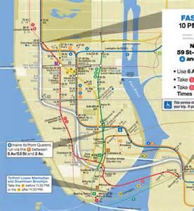 New York City Subway Maps Manhattan