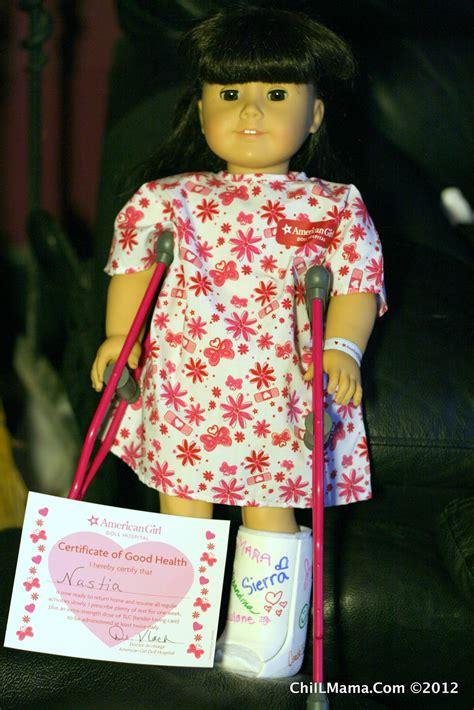 chiil mama american girl doll hospital adventure photo
