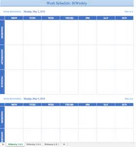 Schedule Template For Excel Free Work Schedule Templates For Word And Excel