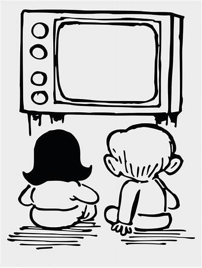 Watching Tv Clipart Television Box Tablet Drawing
