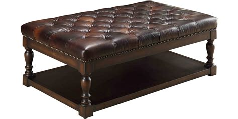 modern leather tufted ottoman coffee table great furniture