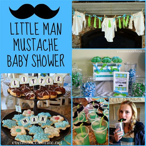 man mustache baby shower   celebrate