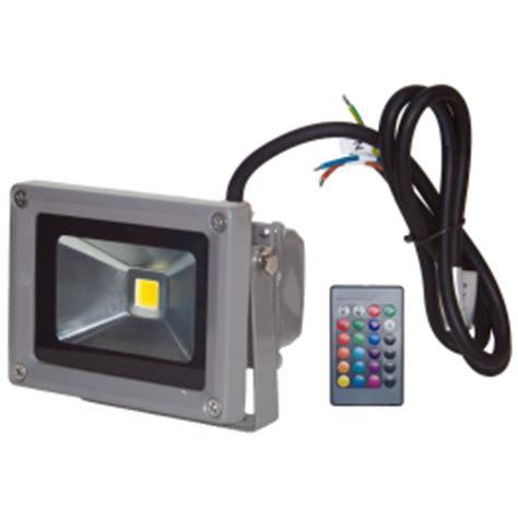 projecteur led 10w ext 233 rieur ip65 rvb avec t 233 l 233 commande 224