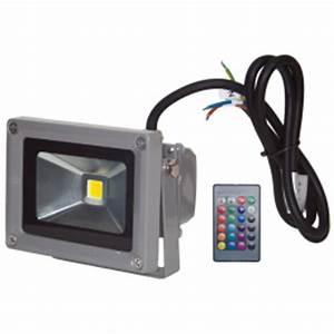 Eclairage Exterieur Avec Telecommande : projecteur led 10w ext rieur ip65 rvb avec t l commande ~ Edinachiropracticcenter.com Idées de Décoration