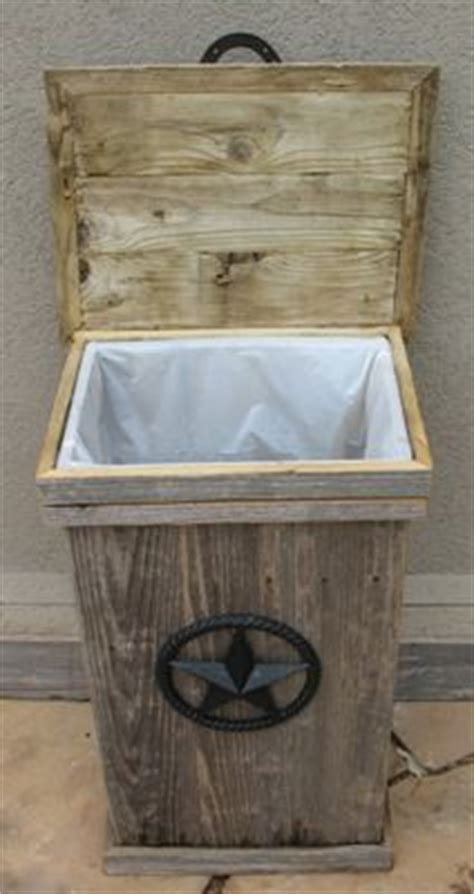 large hand  weathered wood outdoor trash